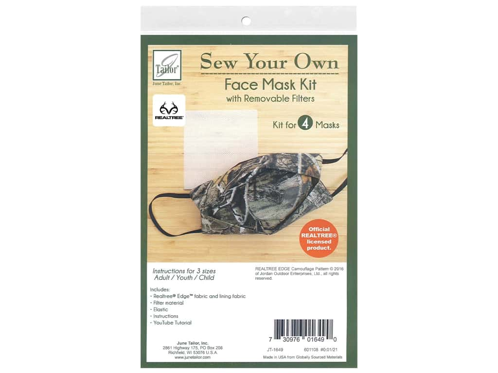 June Tailor Kit Sew Your Own EDGE Facemask 4 pc