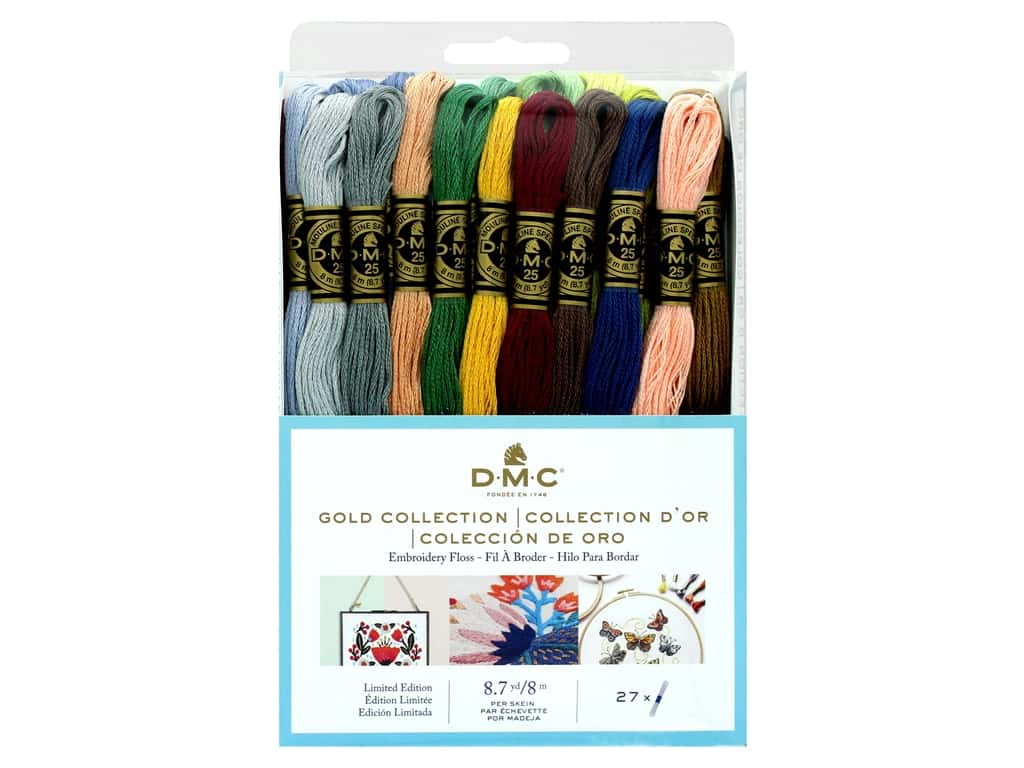 DMC Six Strand Embroidery Floss Gold Collection (3 sets)