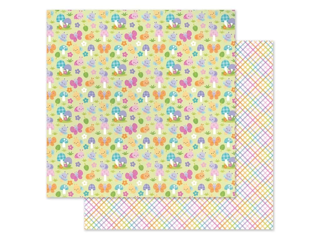 Doodlebug Collection Fairy Garden Paper 12 in. x 12 in. Bug Babies (25 pieces)