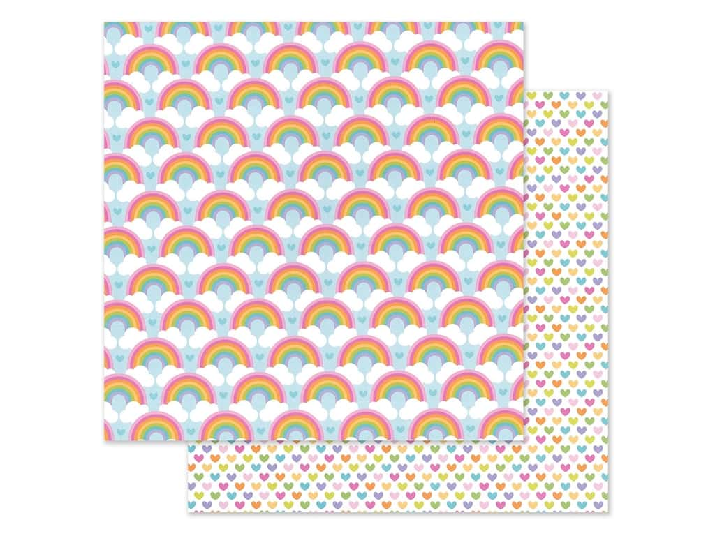 Doodlebug Collection Fairy Garden Paper 12 in. x 12 in. Rainbow Love (25 pieces)