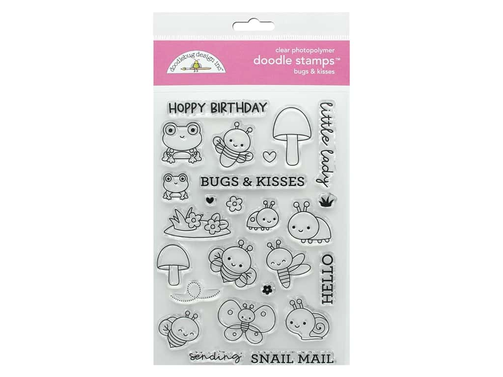 Doodlebug Collection Fairy Garden Doodle Stamps Bugs & Kisses