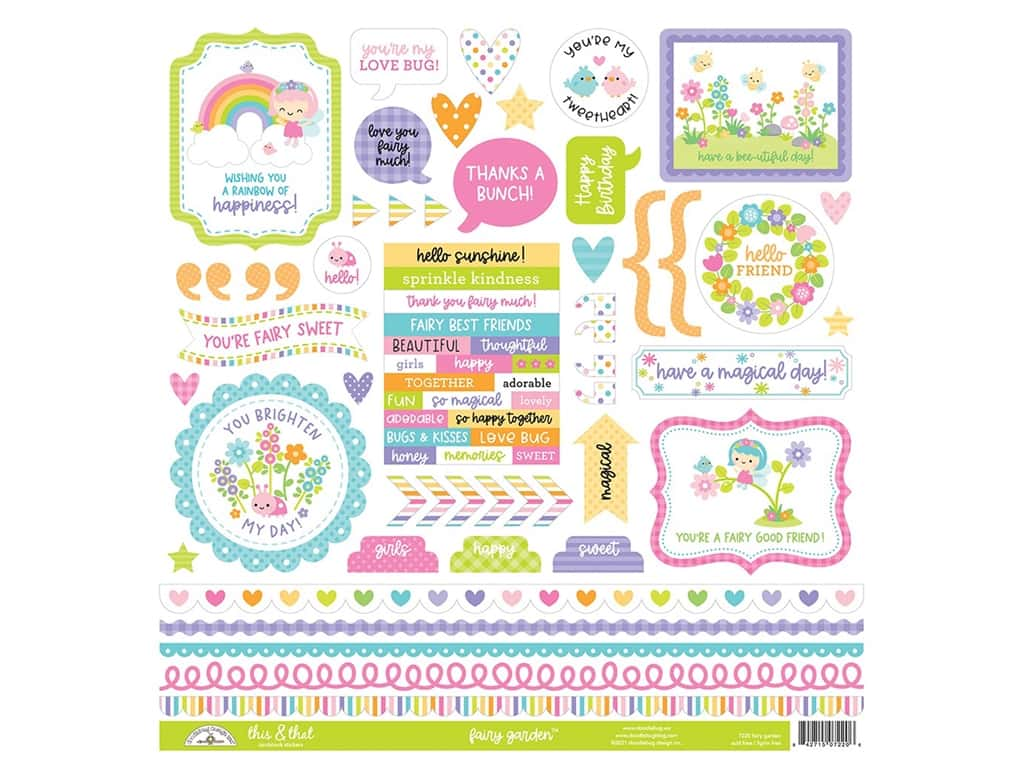 Doodlebug Collection Fairy Garden Stickers This & That