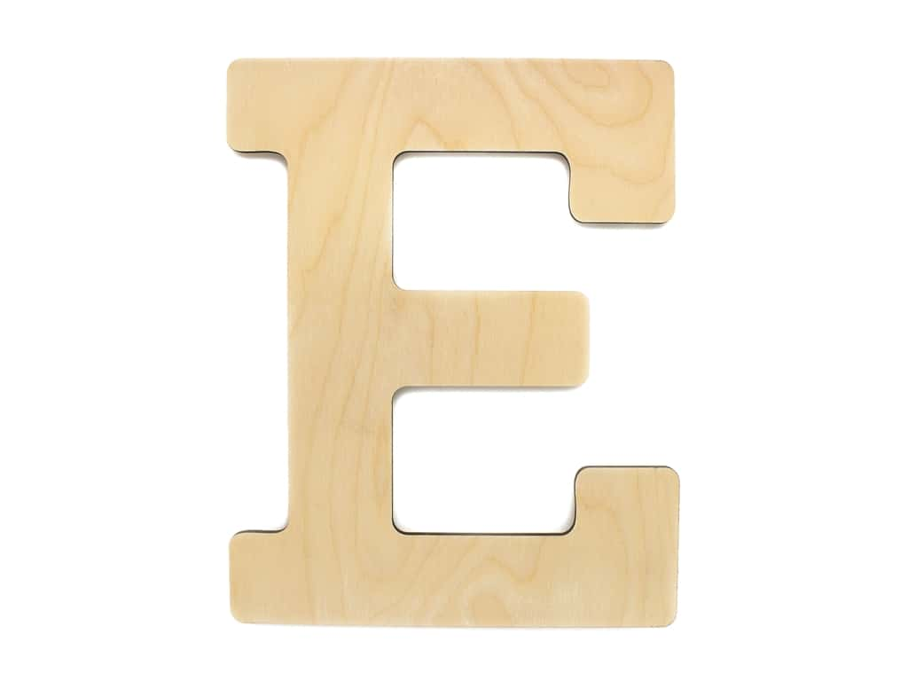 Essentials By Leisure Arts Wood Letter 13 in. Birch E