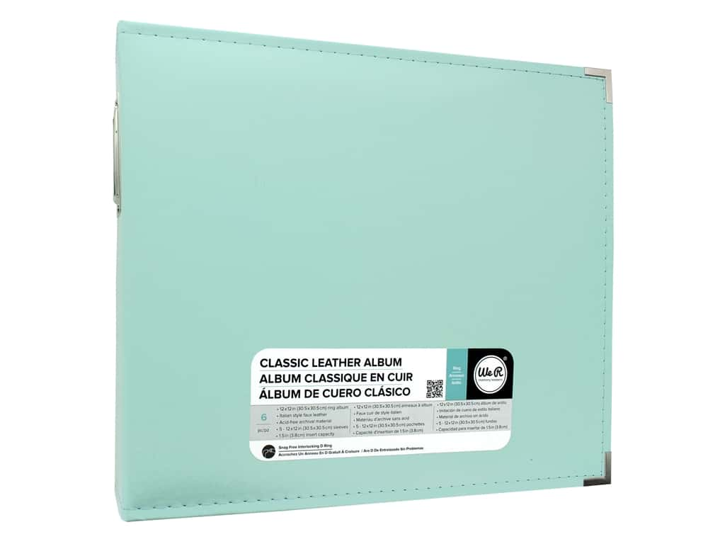 We R Memory Album 12 in. x 12 in. Leather D-Ring Mint