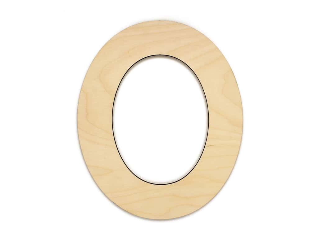 Essentials By Leisure Arts Wood Letter 9.5 in. Birch Number 0