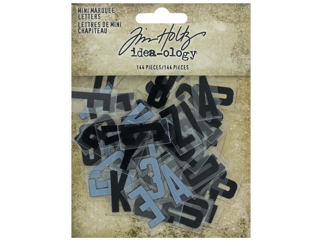 Tim Holtz Idea-ology Mini Marquee Letters (2 sets)