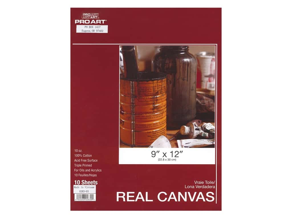 Pro Art Real Canvas Pad 9 x 12 in. 10 Sheet