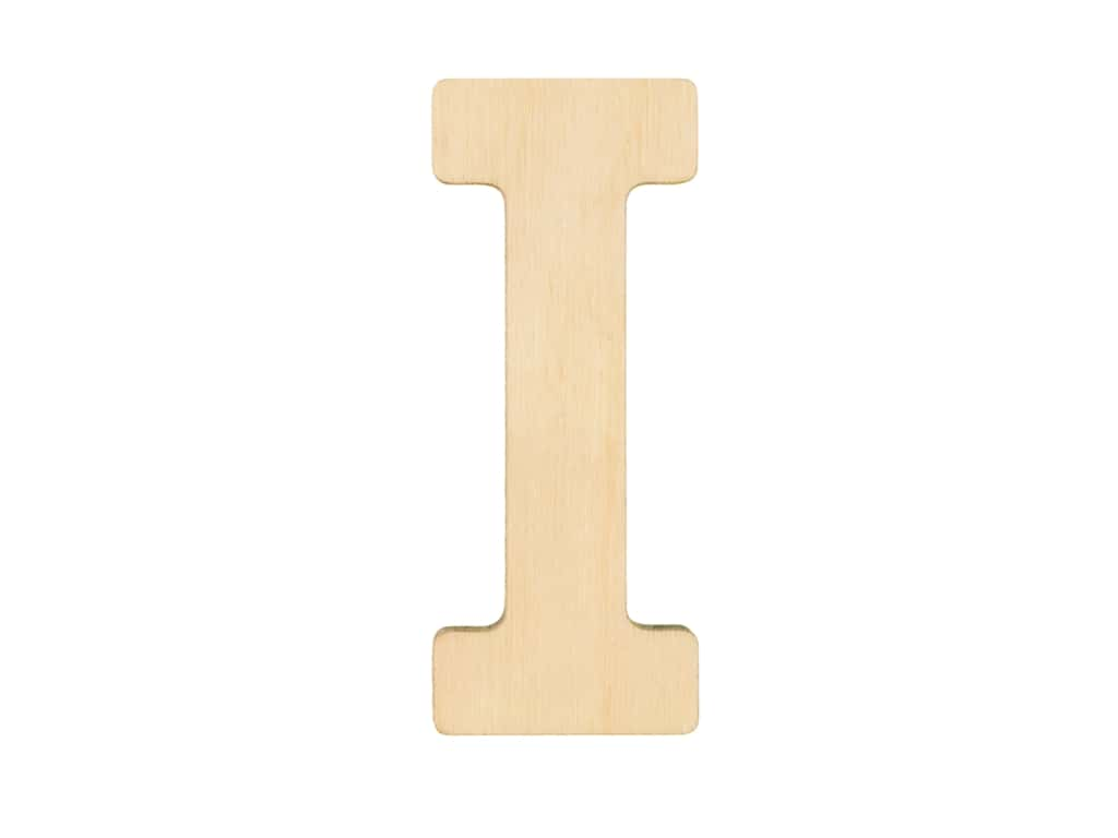 Essentials By Leisure Arts Wood Letter 1.75 in. Birch I