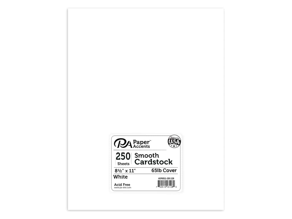 Paper Accents Cardstock 8 1/2 x 11 in. #128 Smooth White 250 pc.