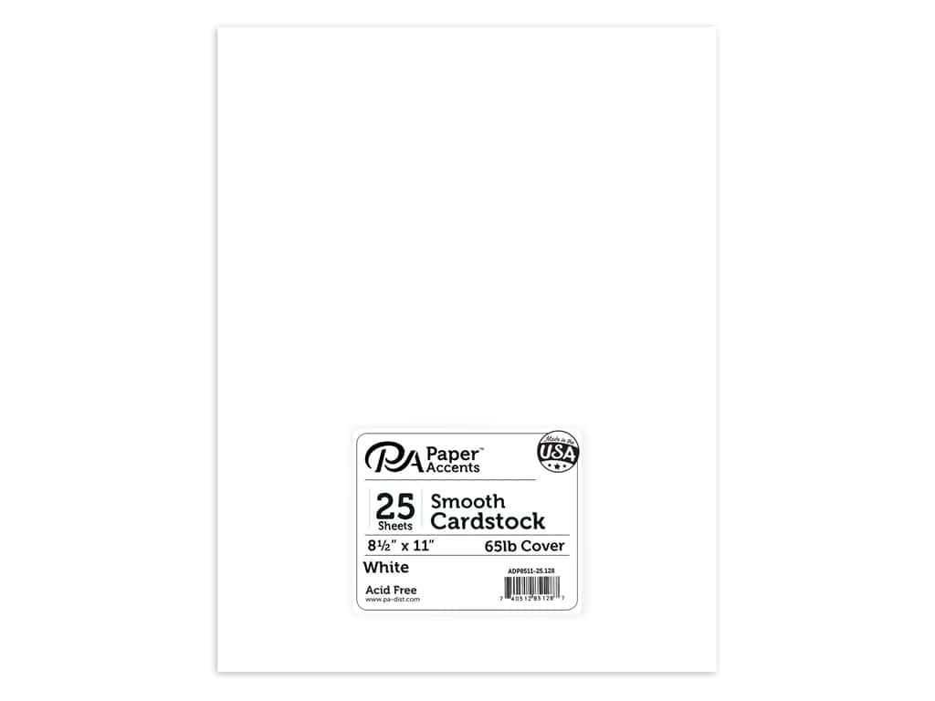 Paper Accents Cardstock 8 1/2 x 11 in. #128 Smooth White 25 pc.