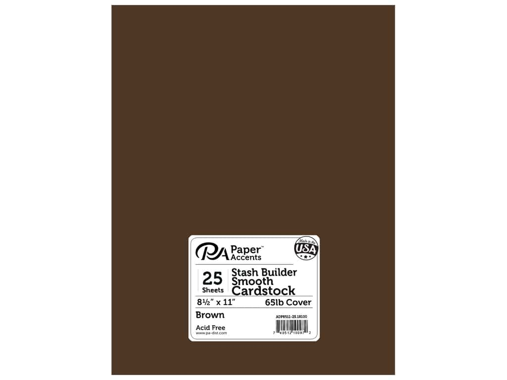 Paper Accents Cardstock 8 1/2 x 11 in. #18100 Stash Builder Brown 25 pc.