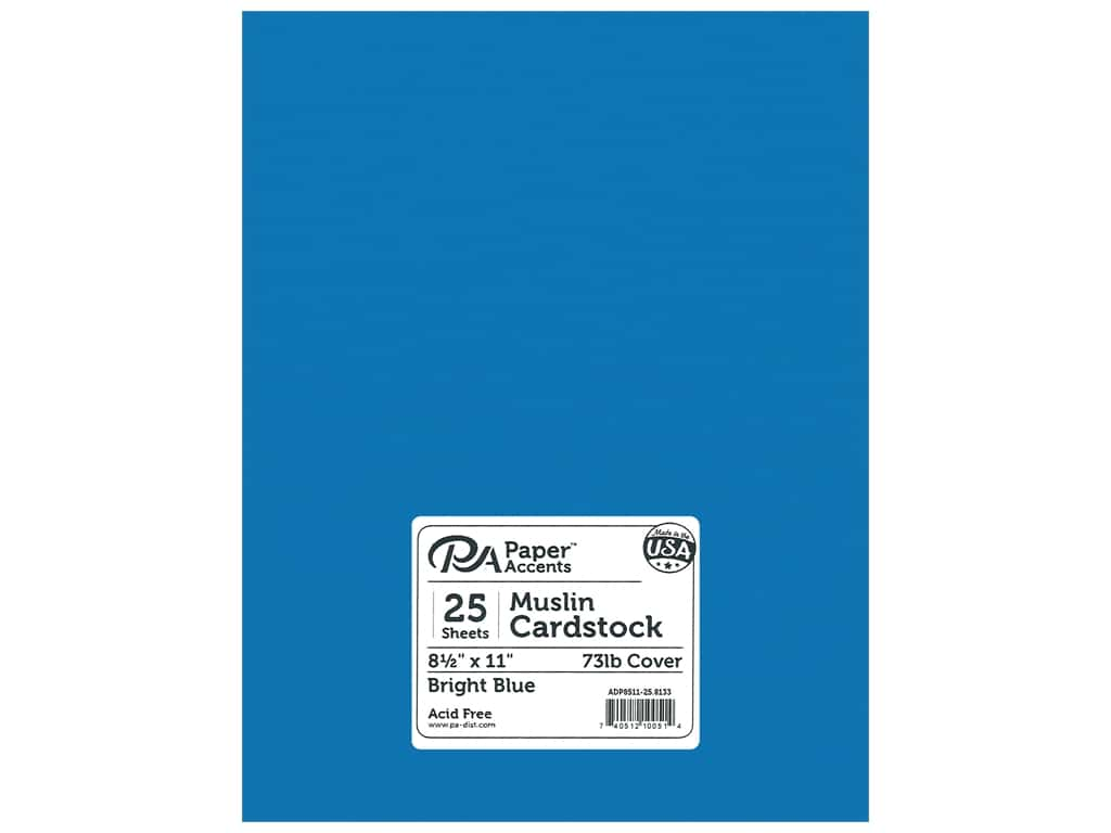 Paper Accents Cardstock 8 1/2 x 11 in. #8133 Muslin Bright Blue 25 pc.