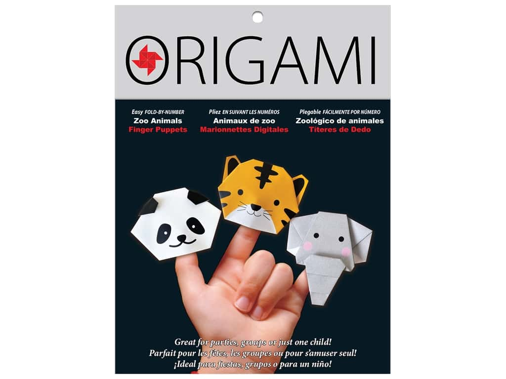 Yasutomo Origami Paper Finger Puppets Zoo Animals