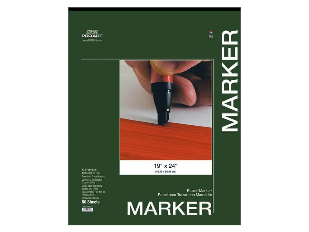 Pro Art Drawing Paper Marker Pad 19 in. x 24 in. 50 pc