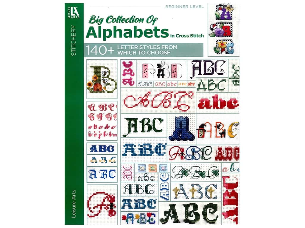 Leisure Arts A Big Collection Of Alphabets Book
