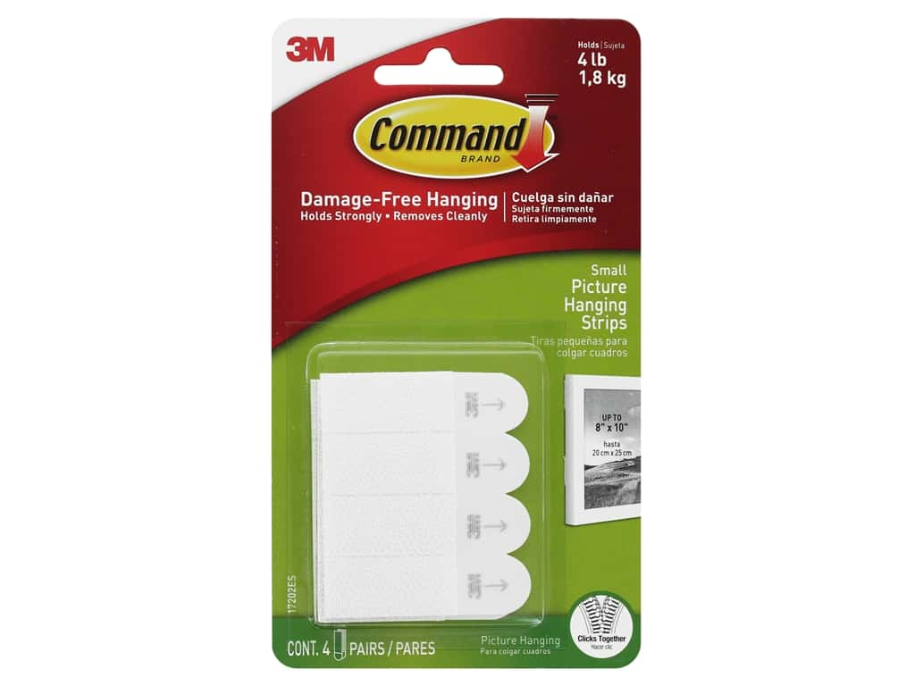 Command Adhesive Picture Hanger Strips Small 4 pc