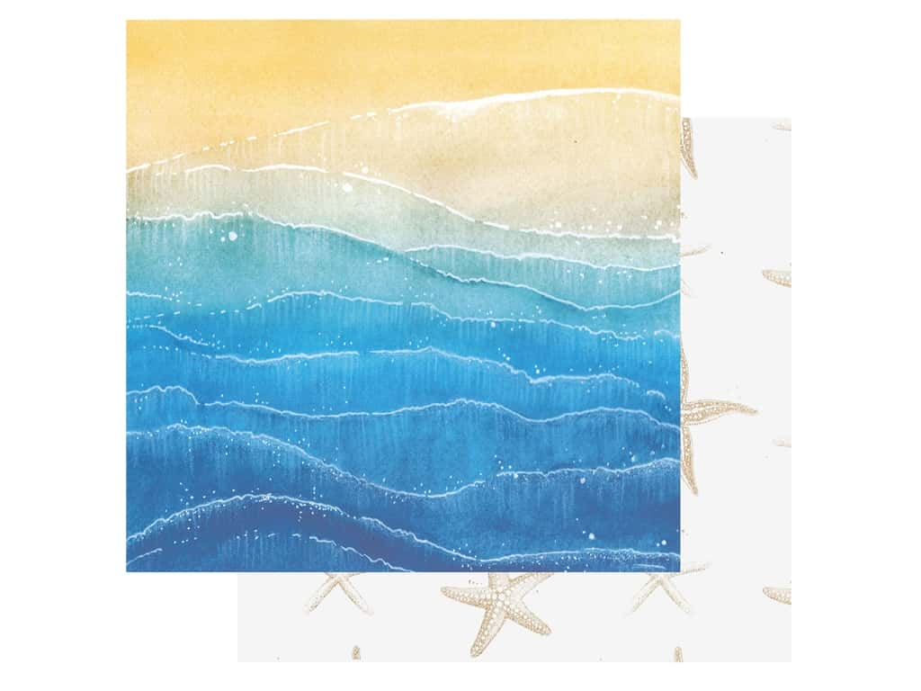 Paper House Paper 12 in. x 12 in. Painted Waves (15 pieces)