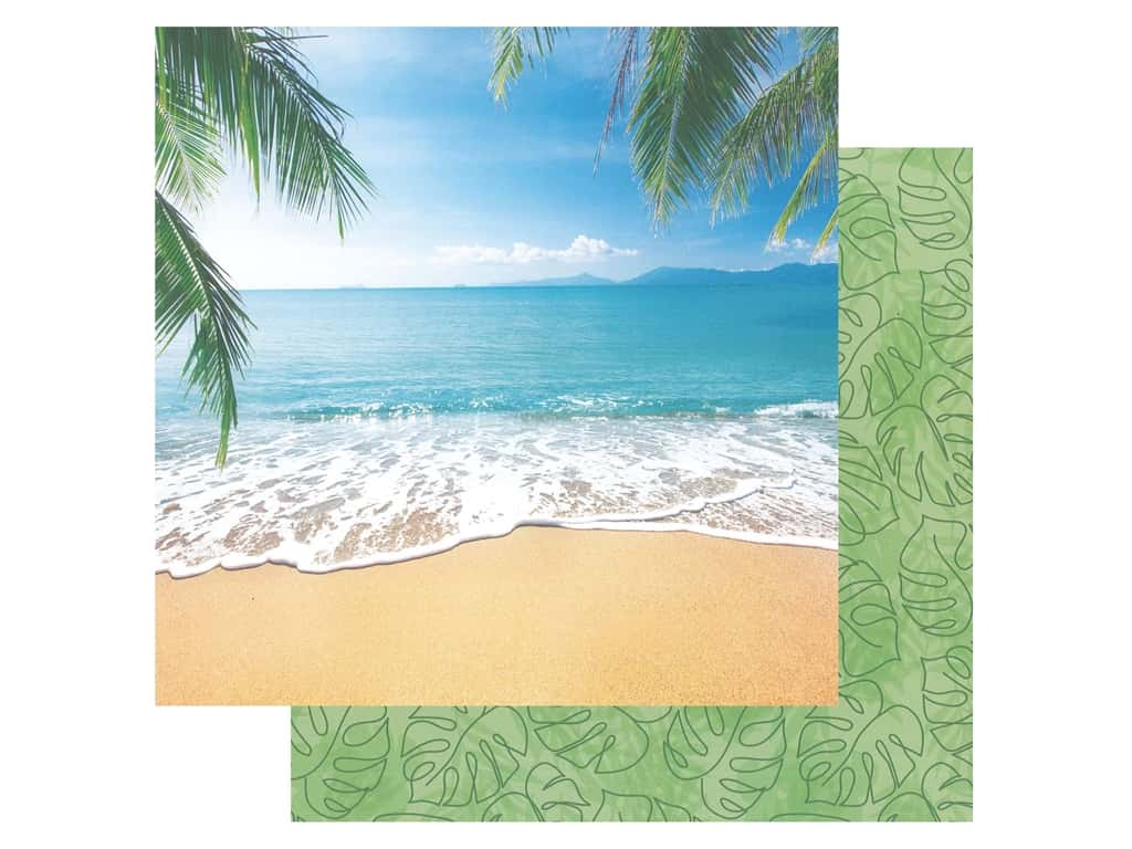 Paper House Paper 12 in. x 12 in. Tropical Beach (15 pieces)