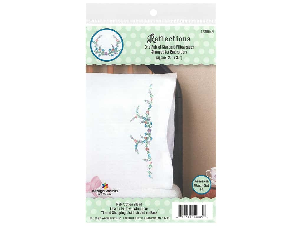 Tobin Stamped Pillowcase Pair 20 in. x 30 in. Reflections