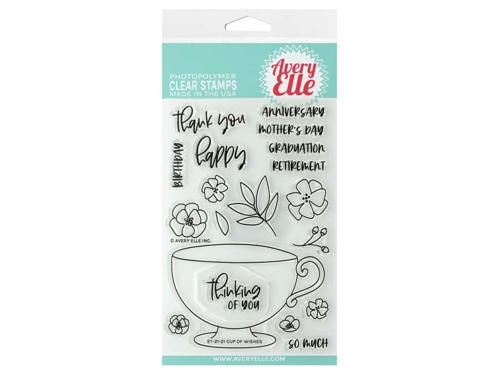 Avery Elle Clear Stamp Cup Of Wishes