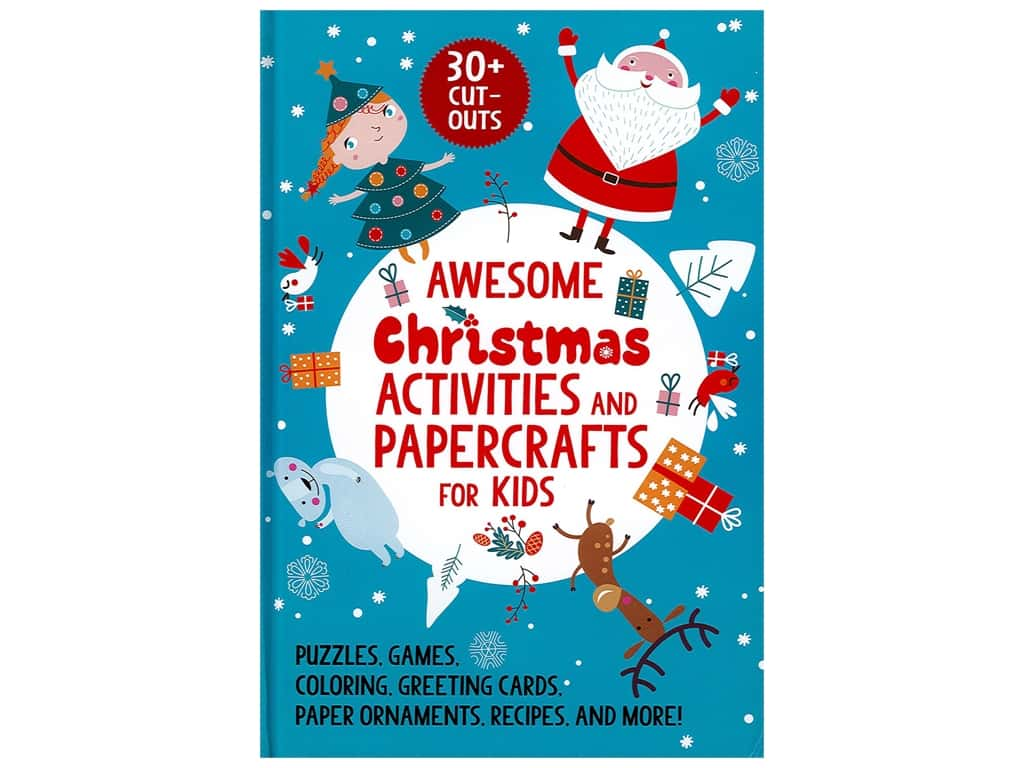 Sky Pony Books Awesome Christmas Activities and Papercrafts for Kids Book