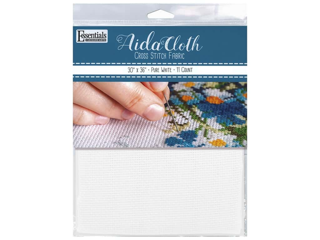 Essentials By Leisure Arts Aida Cloth 11 ct Pure White 30 in. x 36 in.