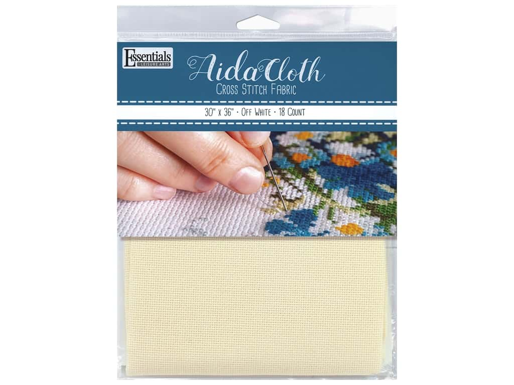 Essentials By Leisure Arts Aida Cloth 18 ct Off White 30 in. x 36 in.