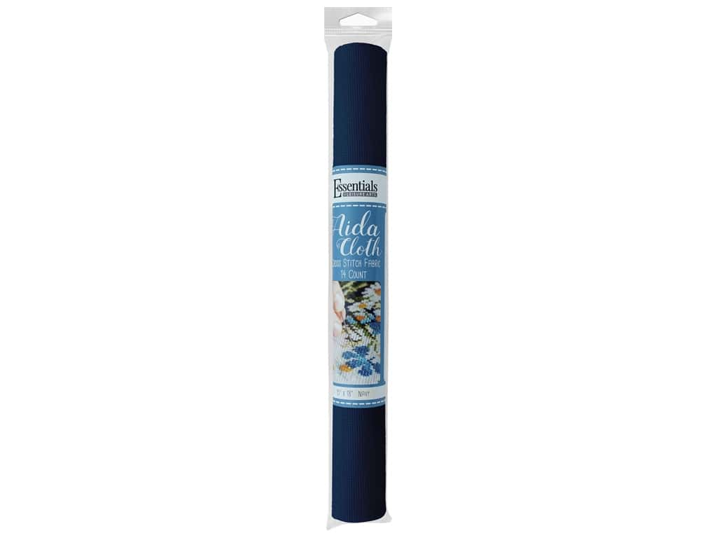 Essentials By Leisure Arts Aida Cloth 14 ct 15 in. x 18 in. Navy