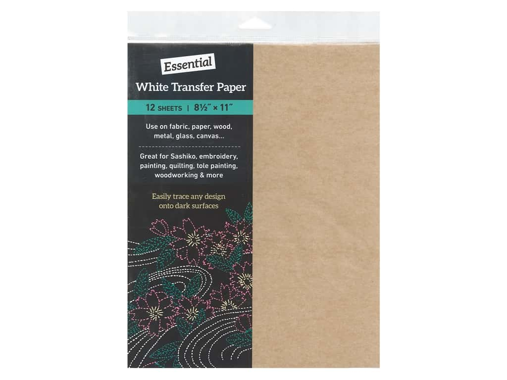 C&T Publishing Essential White Transfer Paper 8.5 in. x 11 in. 12 pc