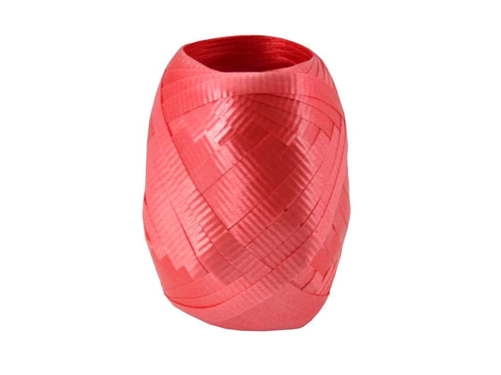 Offray Curling Ribbon Keg 3/16 in. x 40 ft. Crimped Red
