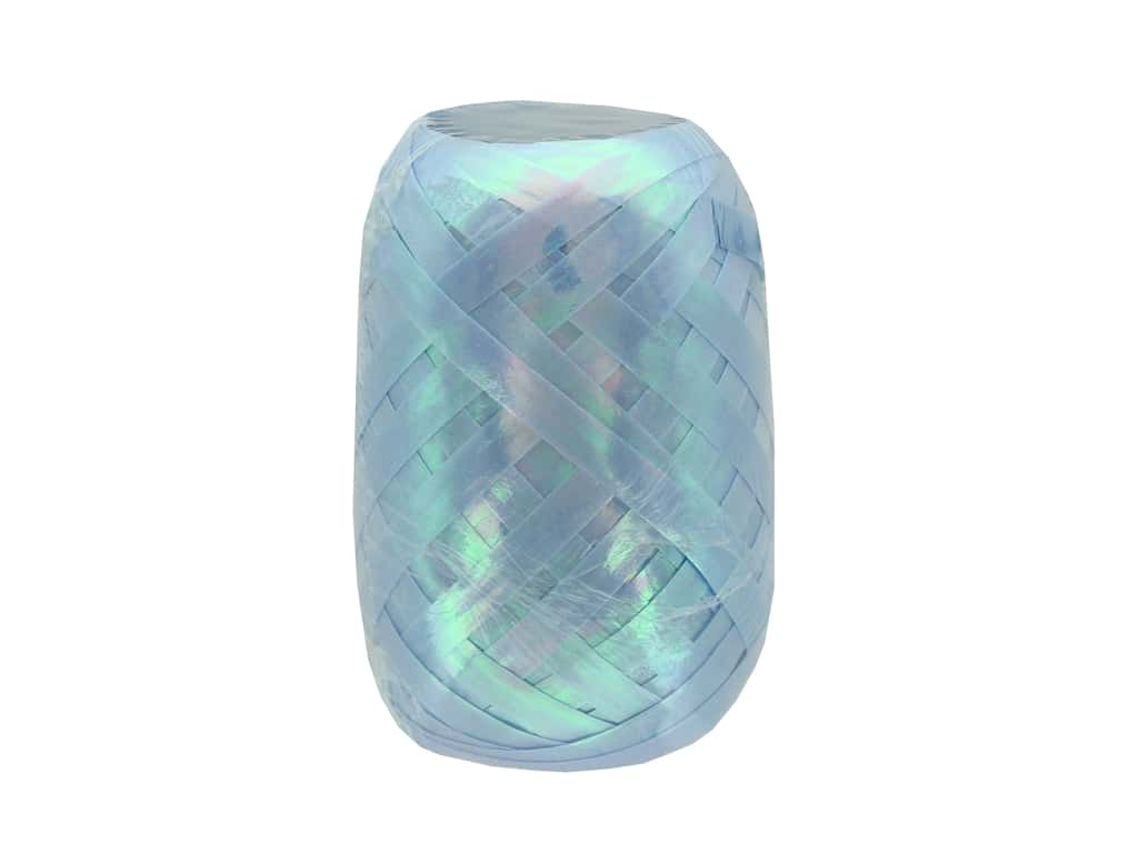Offray Curling Ribbon Keg 3/16 in. x 40 ft. Pearlized Light Blue