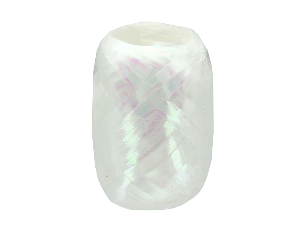 Offray Curling Ribbon Keg 3/16 in. x 40 ft. Pearlized White