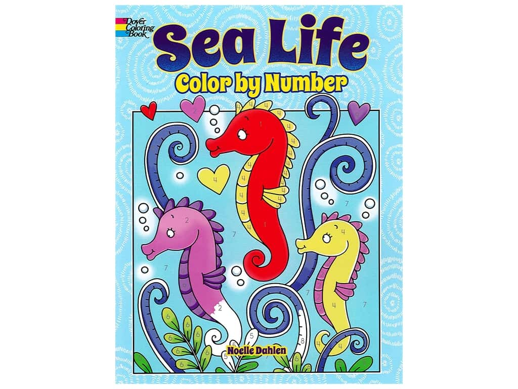 Dover Publications Sea Life Color By Number Coloring Book