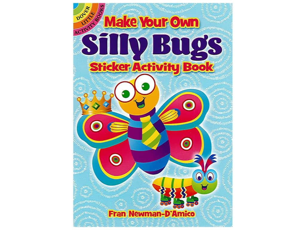 Dover Publications Little Make Your Own Silly Bugs Sticker Book