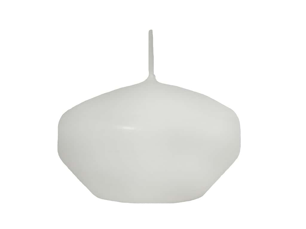 General Wax Floating Candle Disc 3 in. White 24 pc (24 pieces)