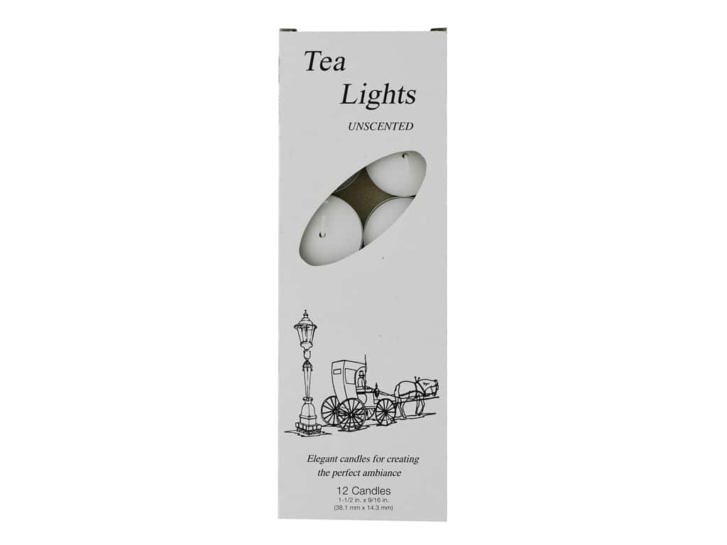 General Wax Tea Light Candle White 12 pc
