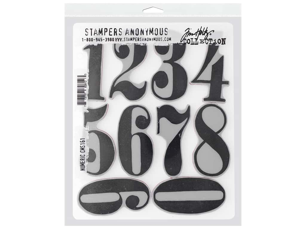 Stampers Anonymous Cling Mount Stamp Tim Holtz 7 in. x 8.5 in. Numeric
