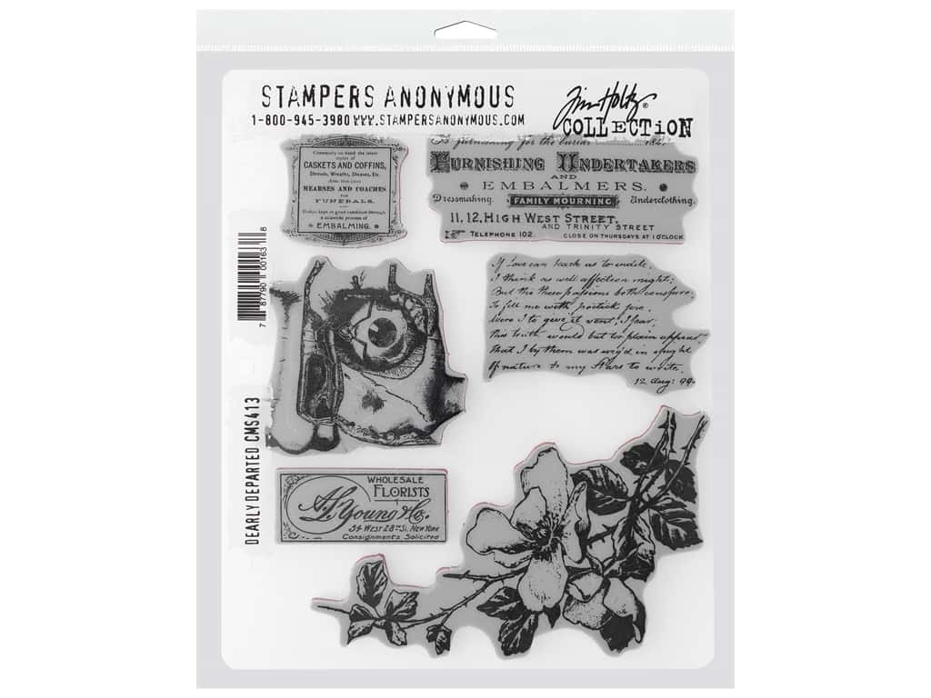 Stampers Anonymous Cling Mount Stamp Tim Holtz 7 in. x 8.5 in. Dearly Departed