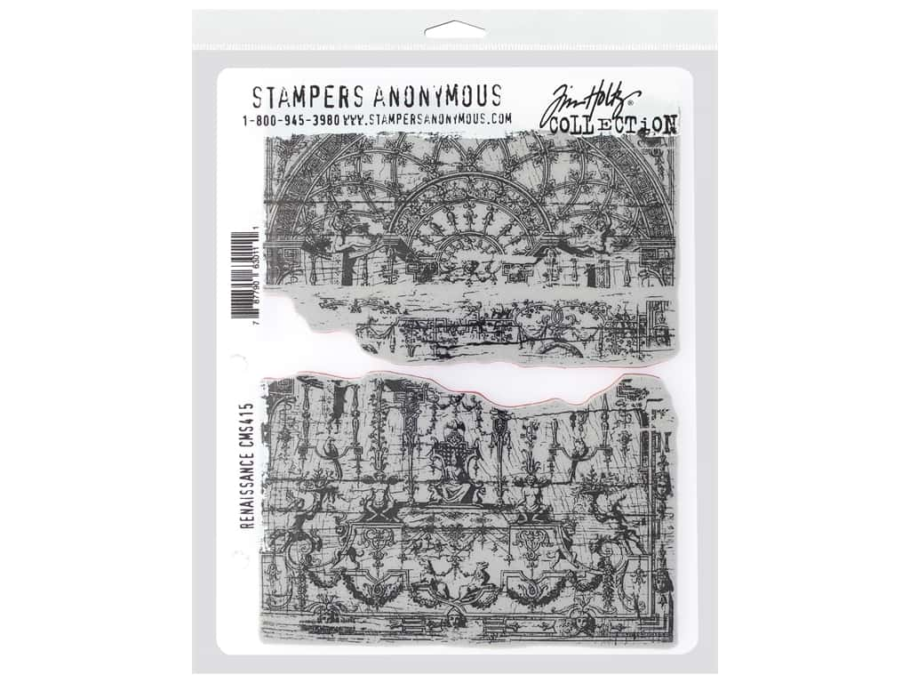 Stampers Anonymous Cling Mount Stamp Tim Holtz 7 in. x 8.5 in. Renaissance