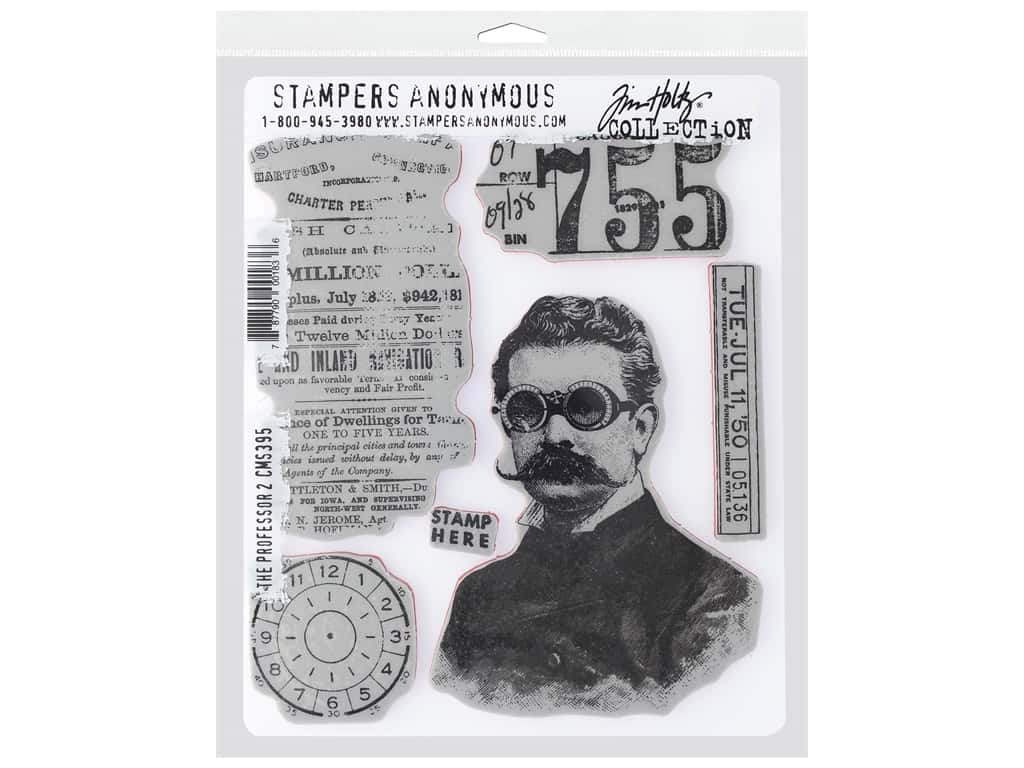 Stampers Anonymous Cling Mount Stamp Tim Holtz 7 in. x 8.5 in. The Professor 2
