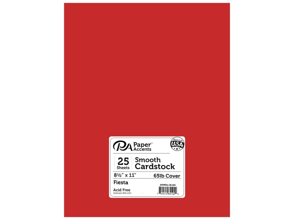 Paper Accents Cardstock 8 1/2 x 11 in. #194 Smooth Fiesta 25 pc.