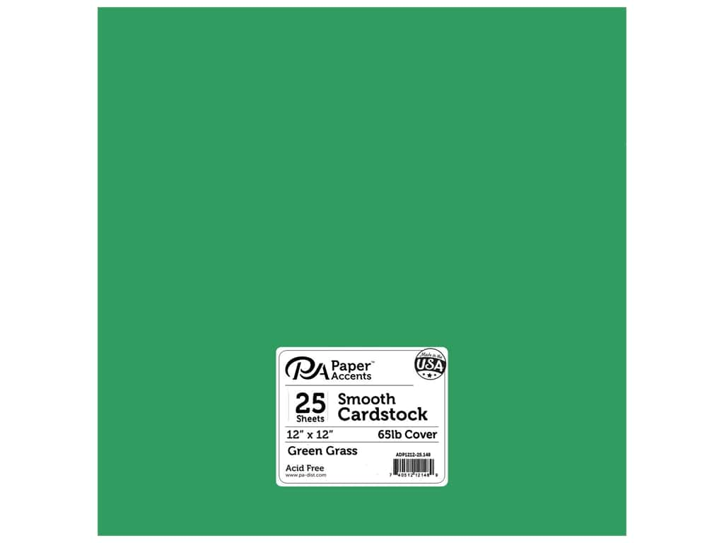 Paper Accents Cardstock 12 x 12 in. #90 Smooth Green Grass 25 pc.
