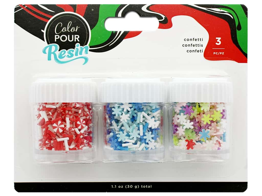 American Crafts Color Pour Resin Mix In Holiday Clay Confetti