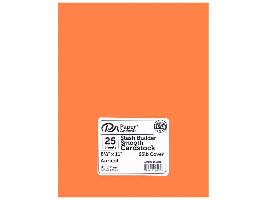 Paper Accents Cardstock 8 1/2 x 11 in. #18092 Stash Builder Apricot 25 pc.