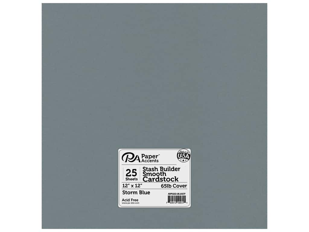 Paper Accents Cardstock 12 x 12 in. #10177 Stash Builder Storm Blue 25 pc.