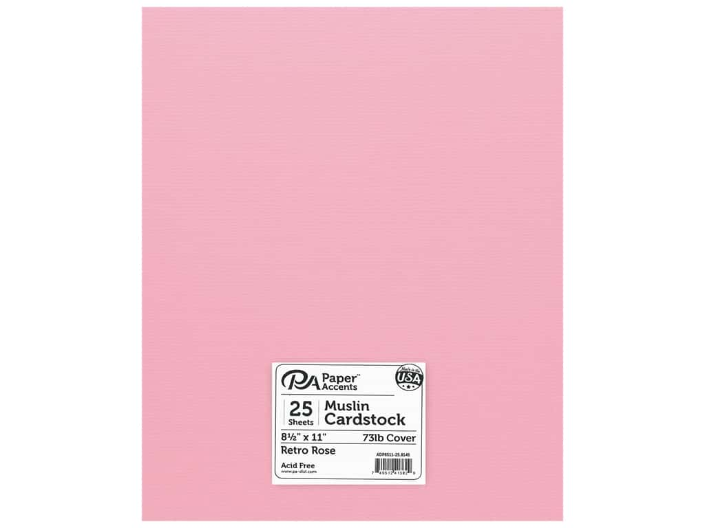 Paper Accents Cardstock 8 1/2 x 11 in. #8145 Muslin Retro Rose 25 pc.