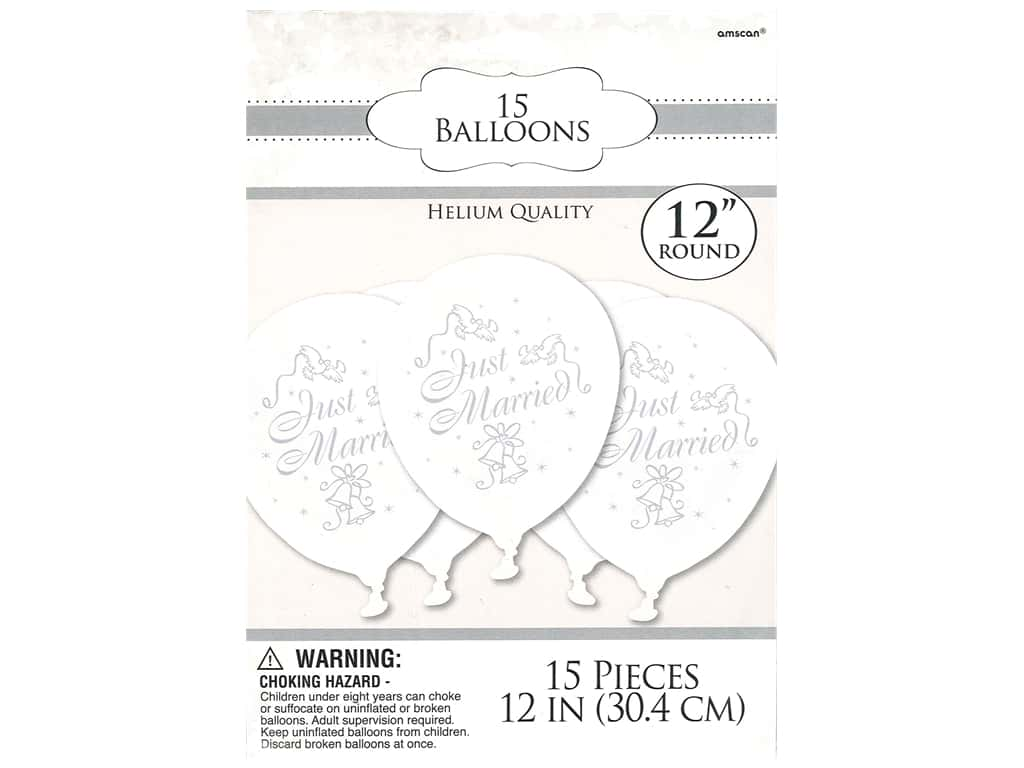Amscan Collection Bridal Balloon Latex 12 in. 15 pc