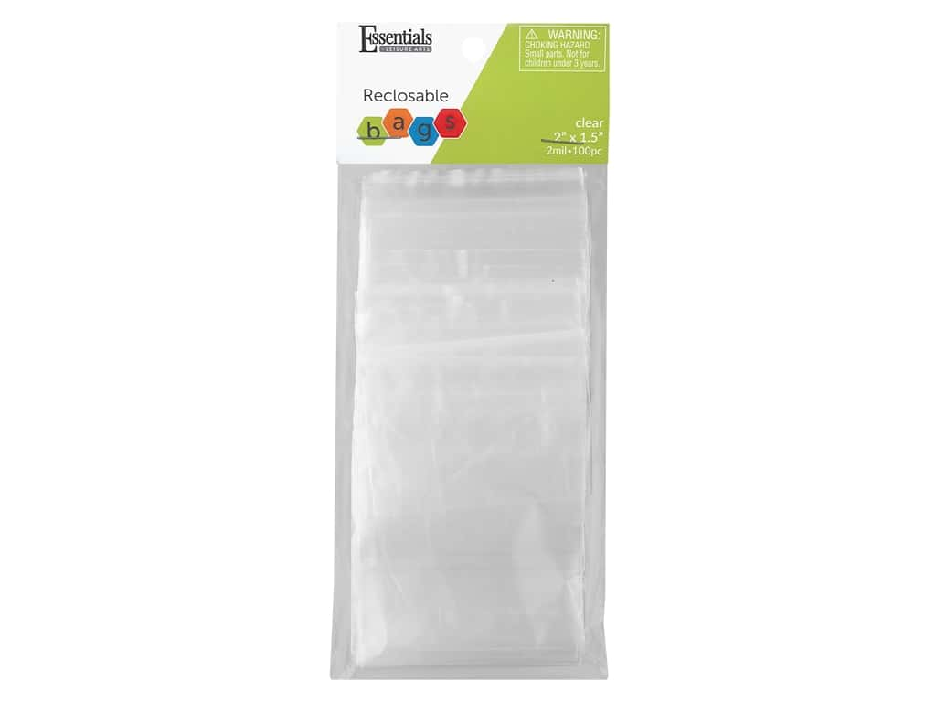 Essentials By Leisure Arts Reclosable Bag 2 mil 2 in. x 1.5 in. 100 pc