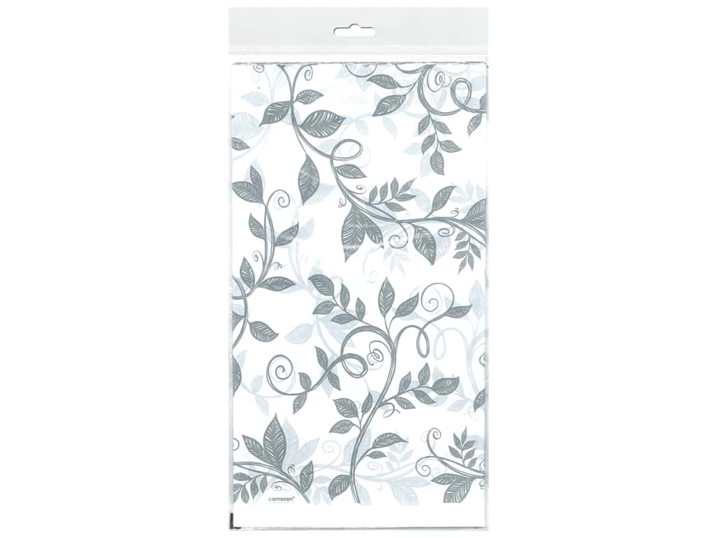 Amscan Collection Anniversary Tablecover 54 in. x 102 in. 25th Plastic