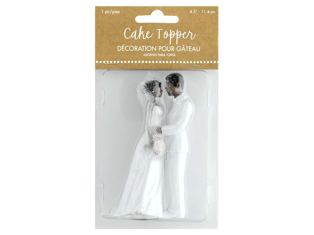 Amscan Collection Bridal Cake Topper 4 1/2 in. African American